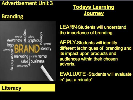 Unit Advertisement.. NEW BTEC Lvl 2 Media