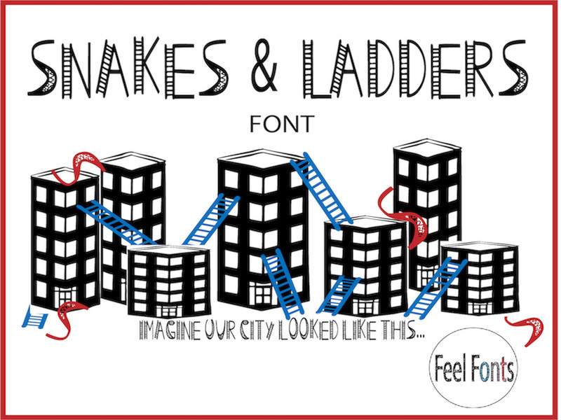 Snakes & Ladders Font - Personal Use (FREE)