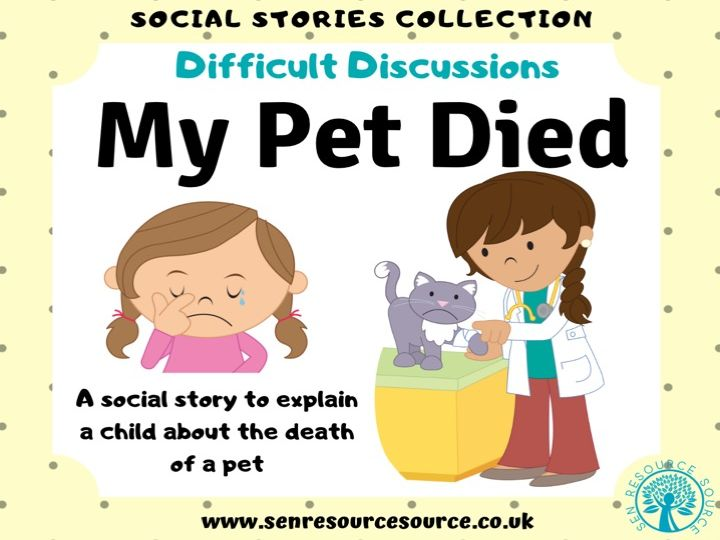 My Pet Died Social Story