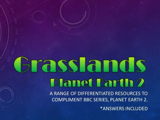 Planet Earth 2 : Grasslands : Activity pack