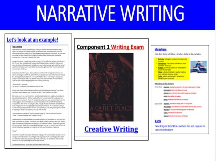 EDUQAS Paper 1 Writing (short story / narrative ) Revision Pack - GCSE English Language