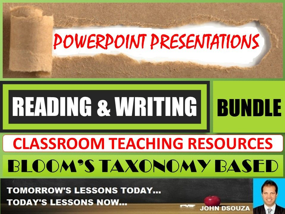 READING & WRITING: BLOOM'S TAXONOMY BASED PPT PRESENTATIONS - BUNDLE