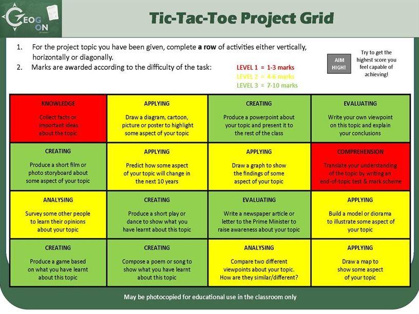 Tic-Tac-Toe Project Grid