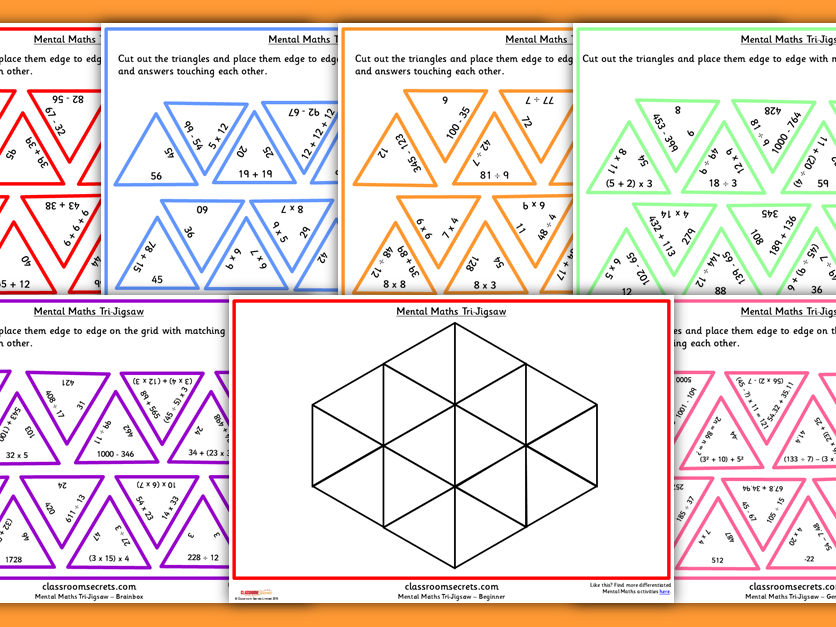Differentiated Tarsia Games for KS1 and KS2