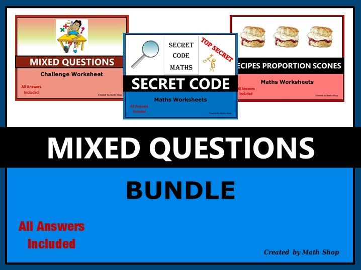 Secret Code Mixed Question Recipe Bundle