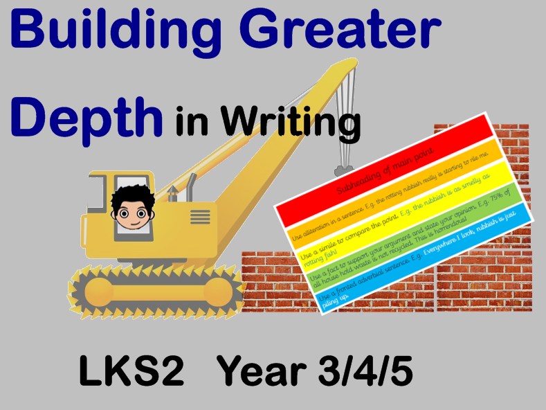 Achieving, creating, building Greater depth in persuasive writing KS2 Year 3, 4, 5