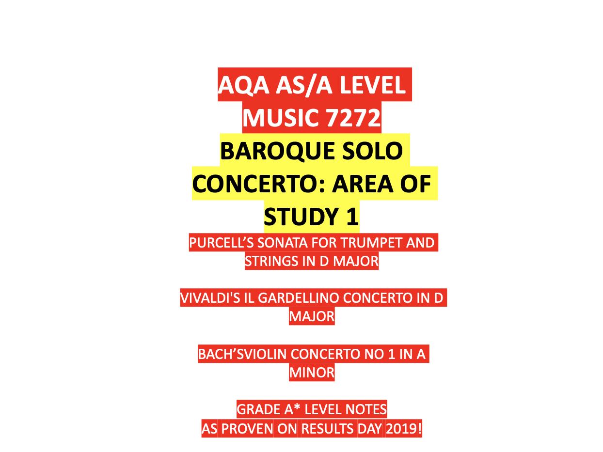 AS Music - Baroque Solo Concerto
