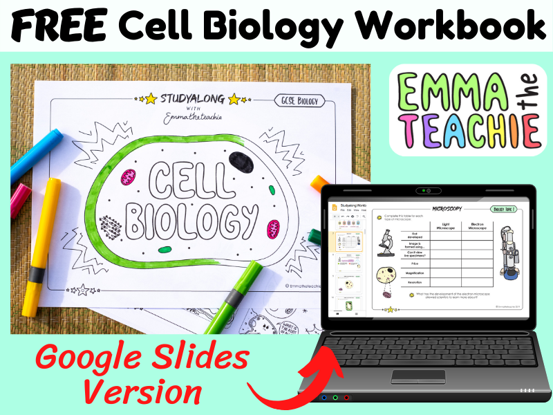 GCSE Biology Cells Revision Workbook AQA 9-1