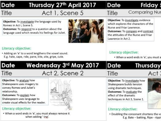 Romeo and Juliet KS3 GCSE bundle