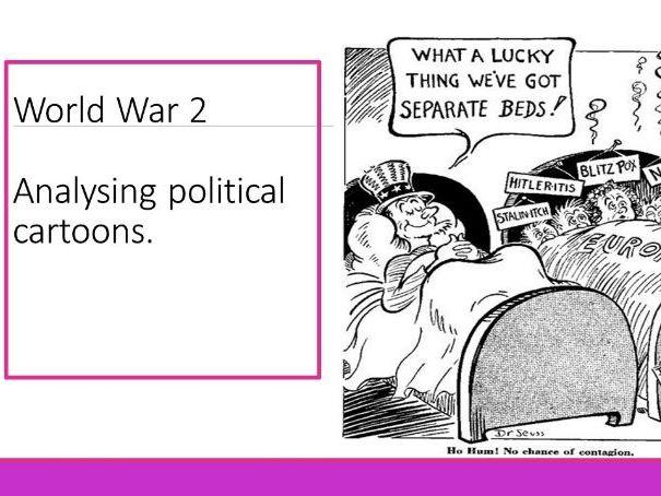 World War 2 Political Cartoon Analysis Lesson