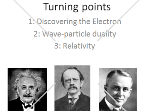 AQA Alevel Physics - Turning points (Electrons)