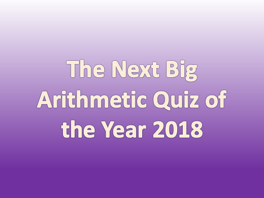 Year 6 Next Arithmetic Quiz to support with KS2 SATs