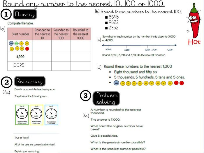 Place value - Round any number to the nearest 10, 100 or 1000 - Lesson 1/2