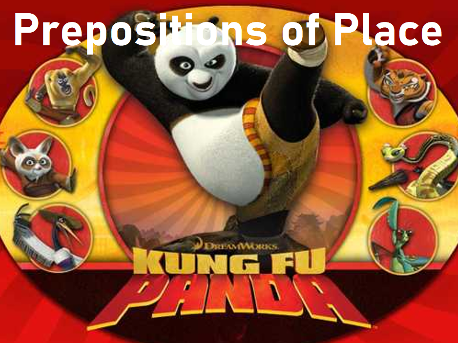 Prepositions of Place Kung Fu Panda Bomb Game - Grades K-1 - PowerPoint