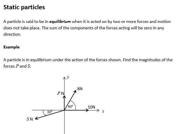 Maths A Level Year 2 Mechanics Applications of Forces