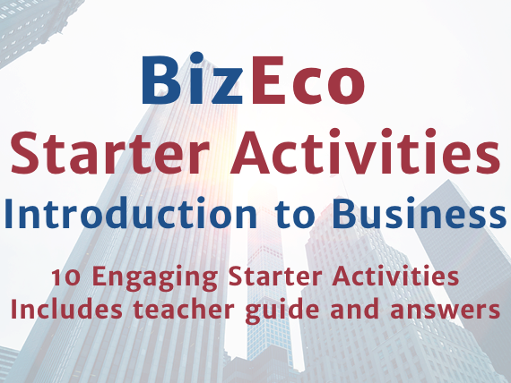 10 Engaging Starter Activities - Introduction to Business
