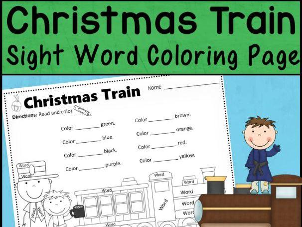 Christmas Train Express Sight Word Activity | Editable