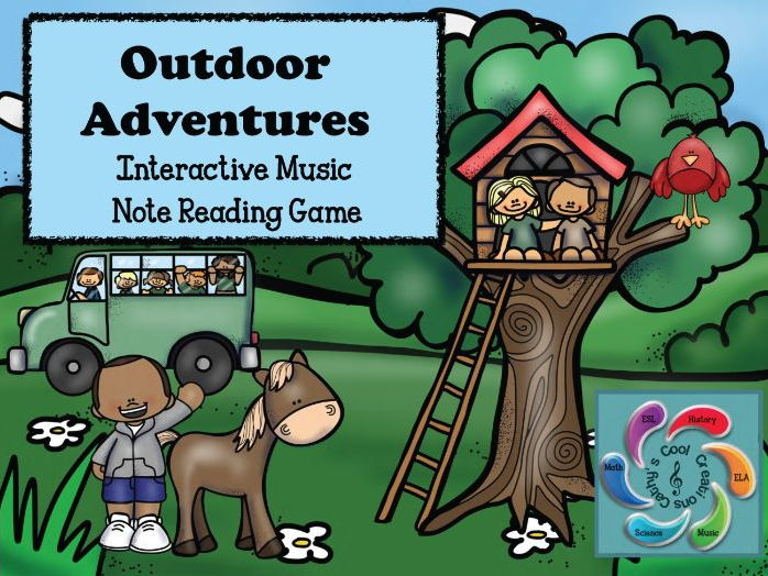 Interactive Music Note Reading game-Google Slides /Adobe Reader-Outdoor Adventures