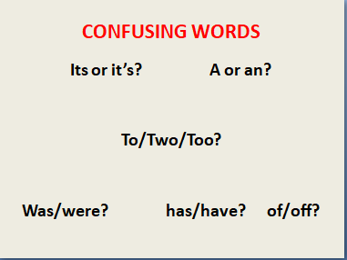 Confusing Words