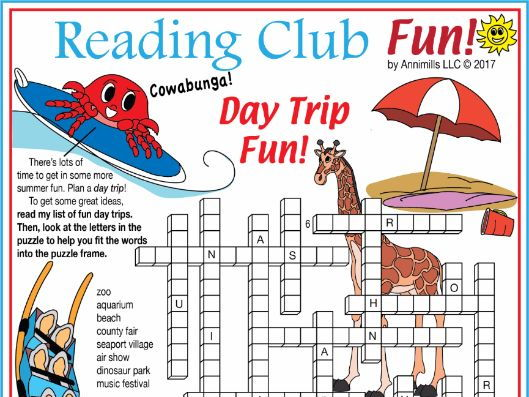 JULY SURPRISE: Day Trip Fun  Crossword Puzzle
