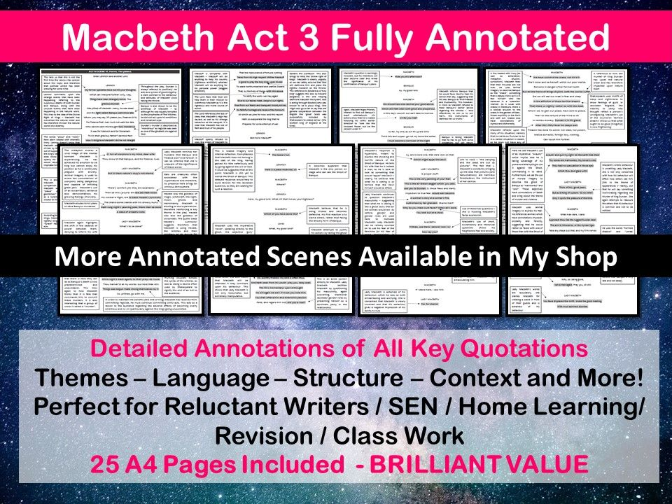 MACBETH ACT 3 FULLY ANNOTATED