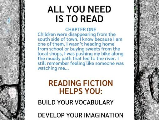Reading Fiction Poster