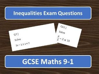 GCSE Maths 9-1 Inequalities Exam Questions