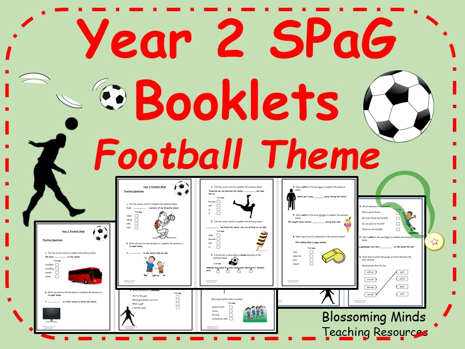 Football World Cup 2018 - Year 2 SPaG Booklets