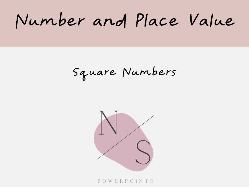 Square Root Numbers Lesson Presentation