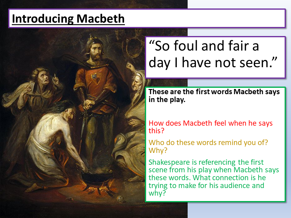 Introducing Macbeth and Banquo