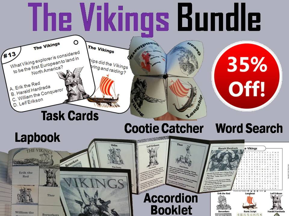 The Vikings Task Cards and Activities Bundle