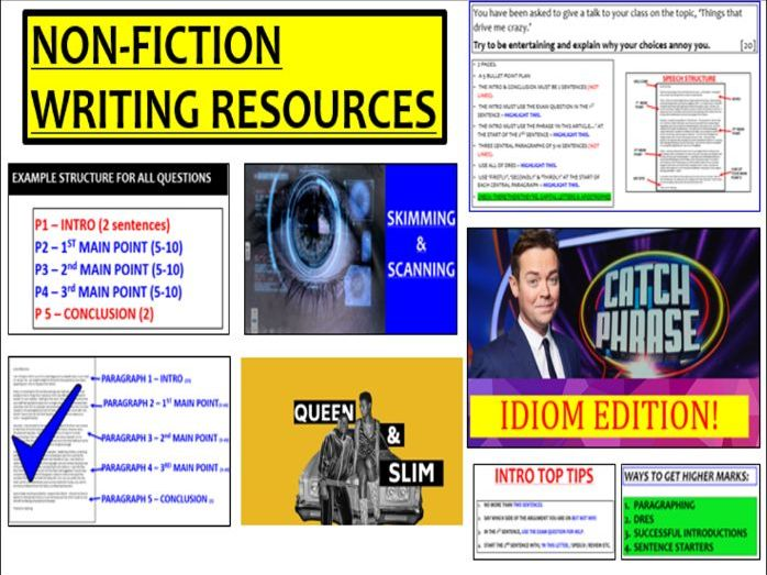 Transactional Writing (Non-fiction) All Resources - paper 2 writing