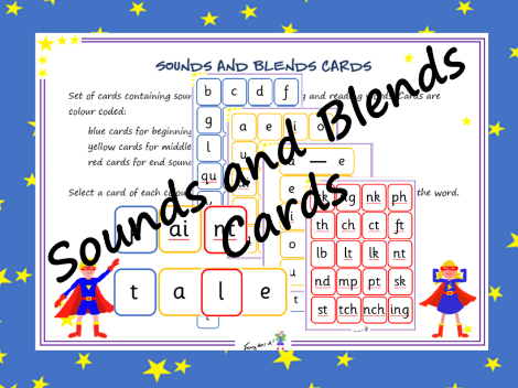 Sounds and blends cards