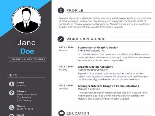 Dark Gray Resume Template