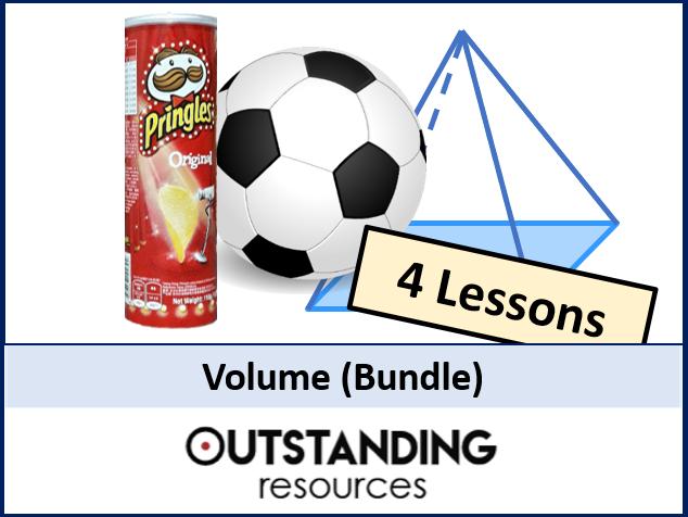 Geometry: Volume BUNDLE (4 Lessons) - perfect for GCSE / IGCSE