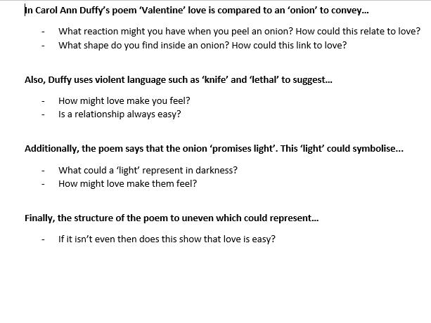 'Valentine' - Carol Ann Duffy