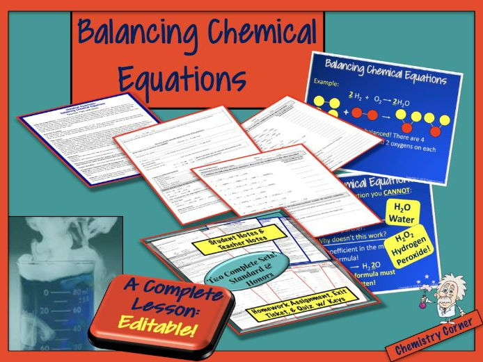 Chemical Reactions: Balancing Chemical Equations