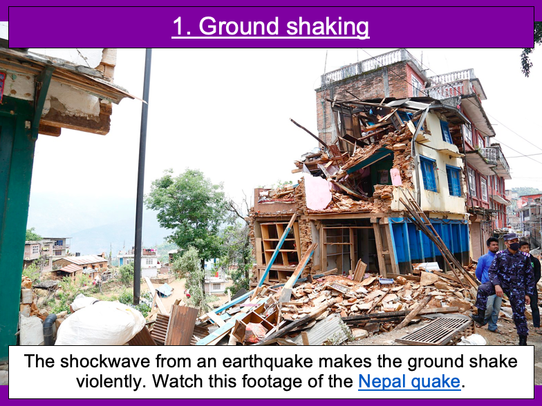 The five deadly features of an earthquake - KS2