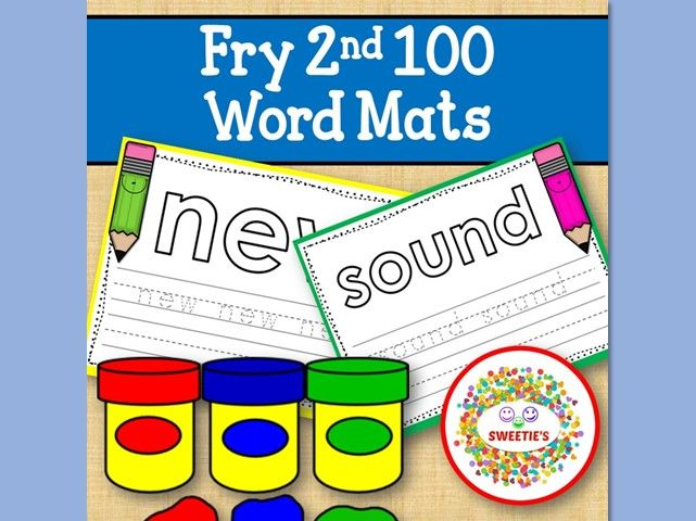 Sight Word Mats:  Fry 2nd 100 Word Mats – Color