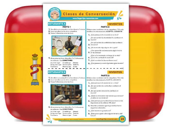 Inventos - Spanish Speaking Activity