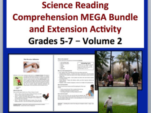 Science Article Bundle Volume 2 - 13 Science Reading Articles - Grades 5-7