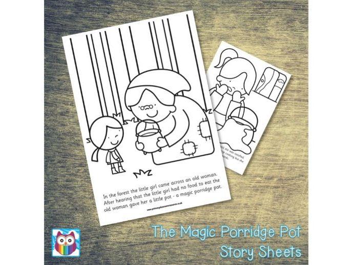 The Magic Porridge Pot Story Sheets