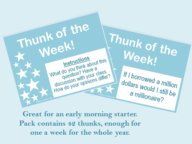 Thunk of the Week - daily starters