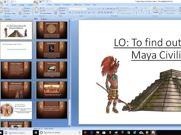 Year 4 History - Maya Civilisation