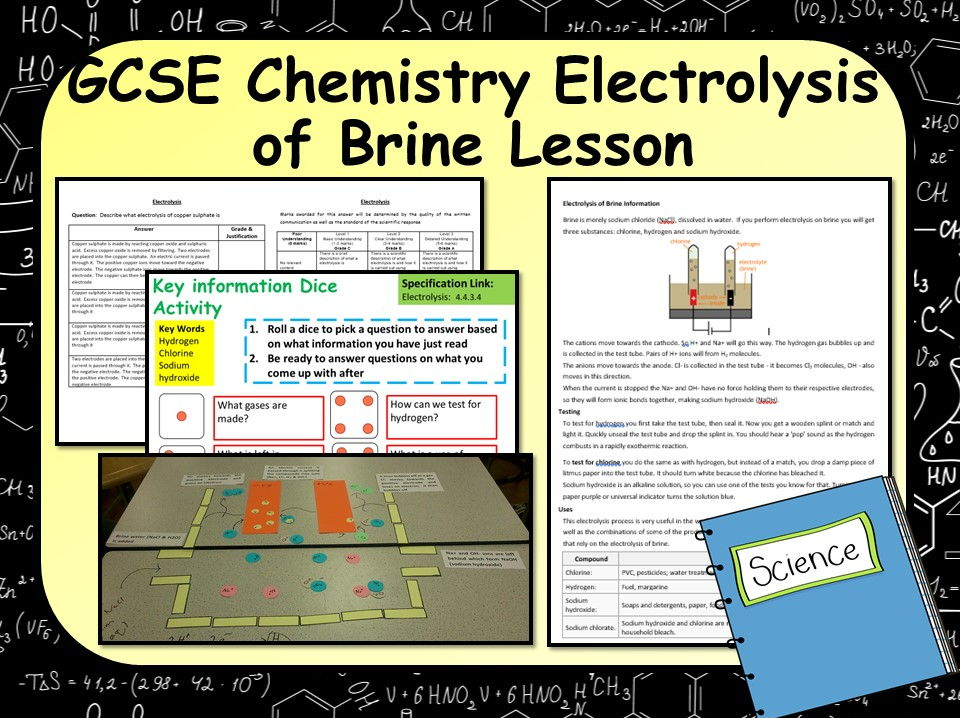 New KS4 AQA GCSE Chemistry (Science) Electrolysis of Brine Lesson