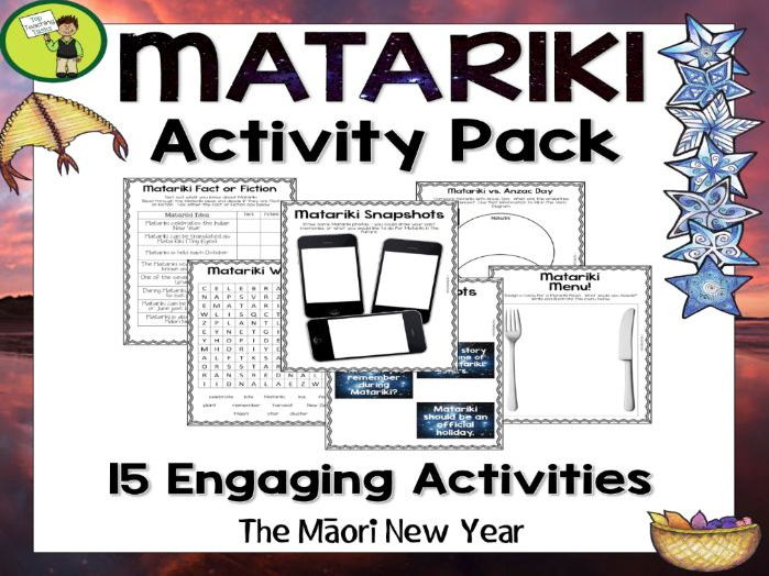 Matariki Print and Go Activity Pack - 15 Engaging ELA Resources