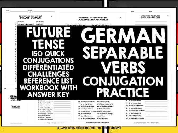 GERMAN SEPARABLE VERBS CONJUGATION PRACTICE #4