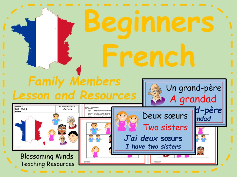 French lesson and resources - Family members