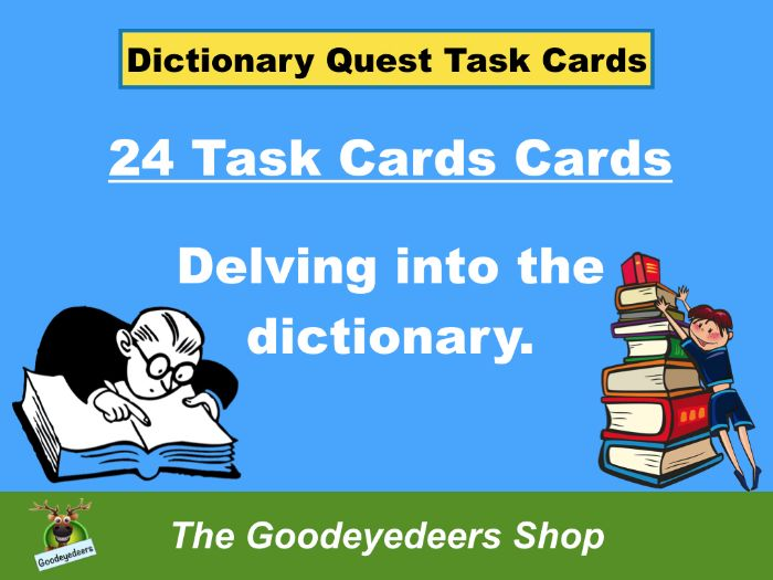 Dictionary Task Cards