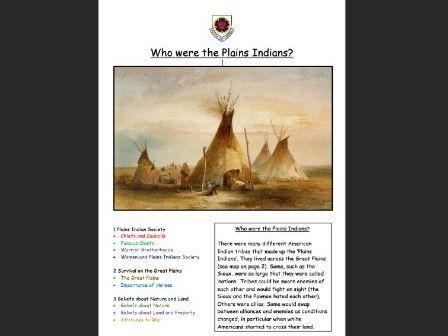 American West Plains Indians Booklet